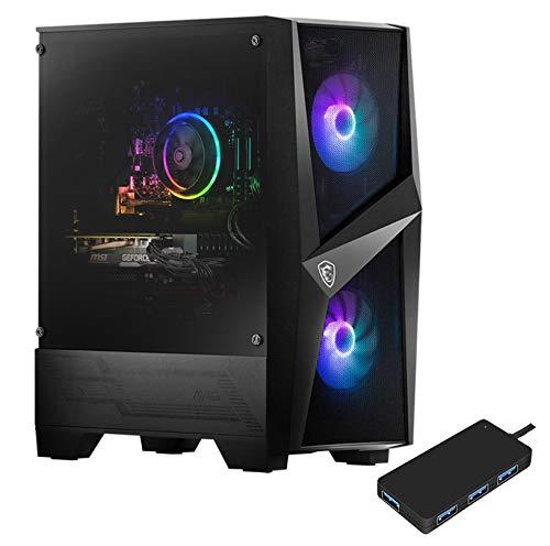 MSI Codex R 10SC-002US Gaming and Entertainment Desktop PC (Intel i7-10700F 8-Core, 64GB RAM, 1TB PCIe SSD + 2TB HDD (2.5), RTX 2060, WiFi, Bluetooth, 1xHDMI, Win 10 Pro) with USB Hub