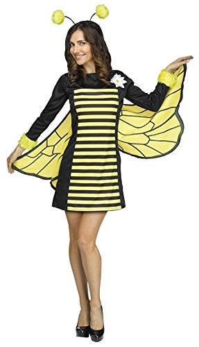 [UHC Women's Bee My Honey Outfit Funny Theme Fancy Dress Halloween Costume, S/M (2-8)] (Honey Bee Costumes For Adults)