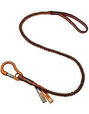 Ergodyne Squids 3100F(x) Tool Lanyard, Shock Absorbing with Self-Locking Carabiner and Loop End, Tool Weight Capacity 10lbs , Standard , Gray