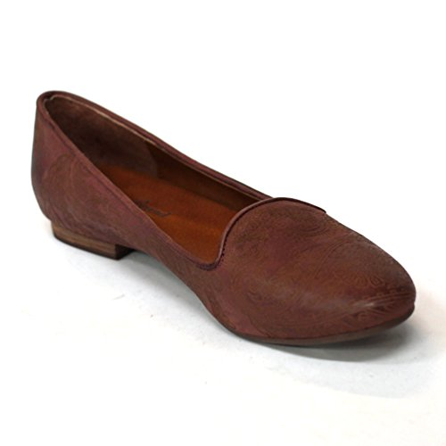 Lucky Brand flach Slipper UK Größe 3,5 Brown-embossed