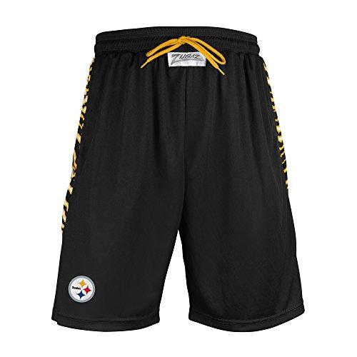 NFL Pittsburgh Steelers Men's Zubaz Zebra Print Accent Team Logo Active Shorts, X-Large, - Men's Clothing Pittsburgh