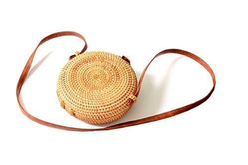 Clasp Handbag Bag Rattan Crossbody Tote Woven SunXia Cute Round Womens Bow Bag Bali Ata with CYxaqwa704