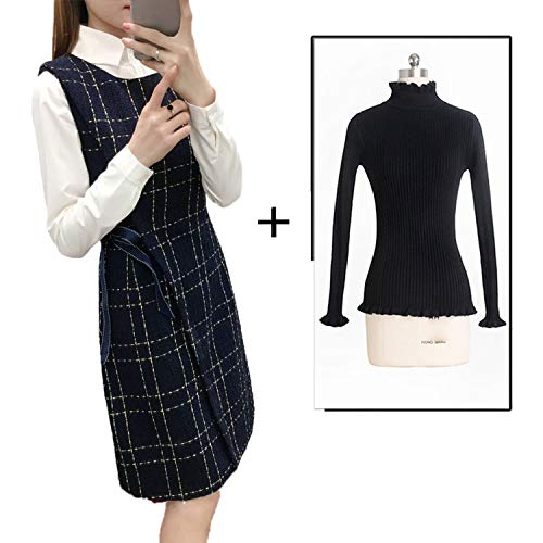 LIAOYLY Winter Dress Ladies Long Woolen Vest Skirt Female Autumn and 2018 New Slim Slimm ()