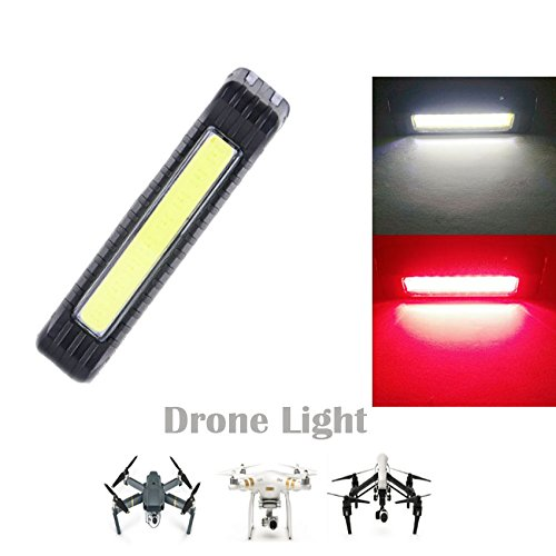 Toogod Drone Strobe Light,Red&White Color 5 Modes,UAV Locator LED Light,Safe Strobe Light for Drone DJI MAVIC PRO/Phantom 3/Inspire 1/Inspire 2 or Other UAV,Included Battery&USB Charging Cable
