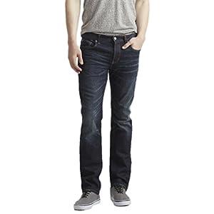 Aeropostale Mens Slim Straight Dark Wash Jeans