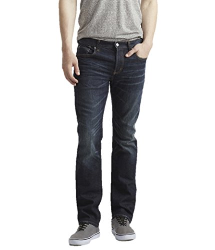 Aeropostale Mens Slim Straight Dark Wash Stretch Jeans 30W x 30L