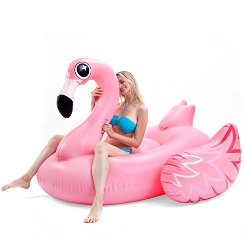 JOYIN Giant Inflatable Luxurious Flamingo Pool Float, Fun Beach Floaties, Swim Party Toys, Pool Island, Summer Pool Raft Lounge Adults & Kids ()