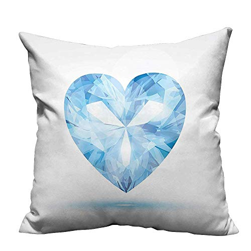 YouXianHome Home Decor Pillowcase Big Hanging Valentine He Shad Shadow Box Passi Romance Tune Blue Durable Polyester Fabric(Double-Sided Printing) 20x20 inch