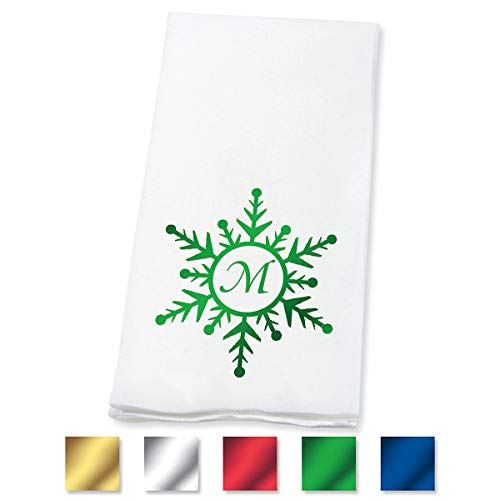 - Lillian Vernon Snowflake Personalized Linen-Like Disposable Guest Hand Towels 50% Cotton 50% Paper Blend, 4 1/2