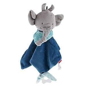 B Baosity Hochet d'Eveil Bébé - Doudou Serviette apaisante - Premier âge - Couverture de Sécurité - Garçon/Fille Enfant Lit Berceau Poussette Jouet - Éléphant Bleu foncé 5
