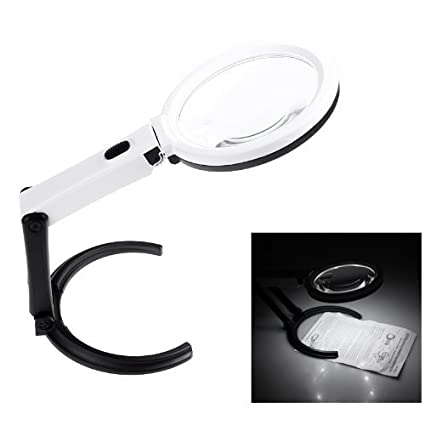 Okayji 10 led light magnifier magnifying glass lens table desk type okayji 10 led light magnifier magnifying glass lens table desk type lamp handheld foldable aloadofball Choice Image