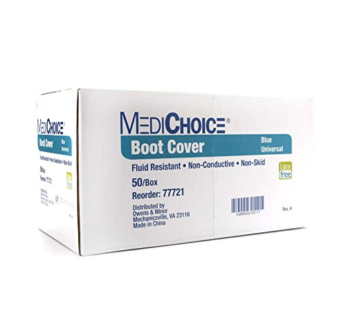 MediChoice Shoe Covers, Disposable, Anti-Skid Treads, Spunbond Meltblown Spunbond, Universal, Blue, 1314077721 (Case of 150) by MediChoice (Image #2)