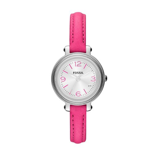 Fossil ES3302 - Reloj analógico de cuarzo para mujer con correa de piel, color rosa
