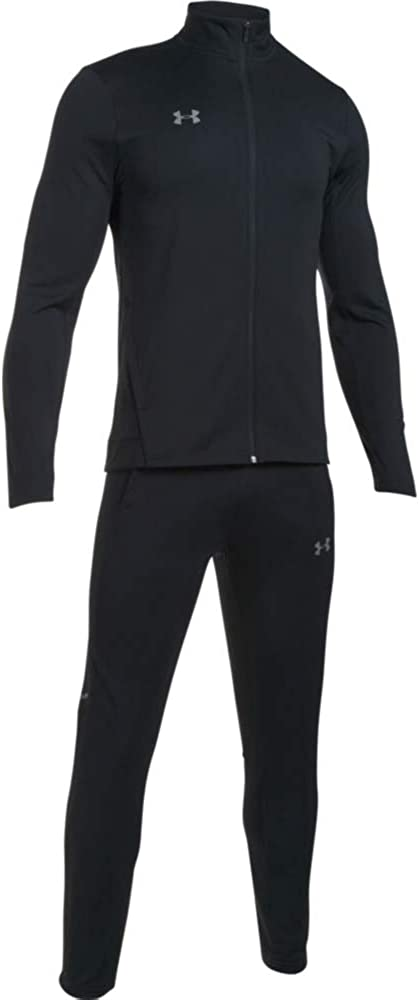 Black Black//Graphite Under Armour Challenger II Knit Warm-Up 001 2XL Tracksuit with Jacket and Joggers Complete Sportswear Set Men