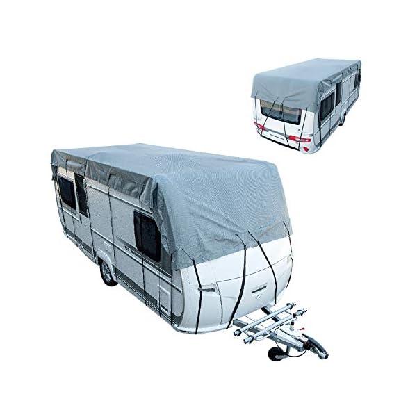 41tJ5OR0L1L Cartrend Caravan 10248 Dachschutzplane Plane Dachplane Dachschutz Caravan Schutzhülle Abdeckplane Dachschutz Caravan