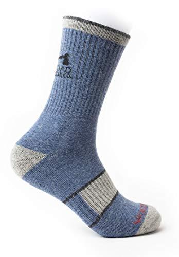 WOODROAD Summer Alpaca Wool Crew Socks For Men & Women - Premium Wool Hiking Socks (L/XL)
