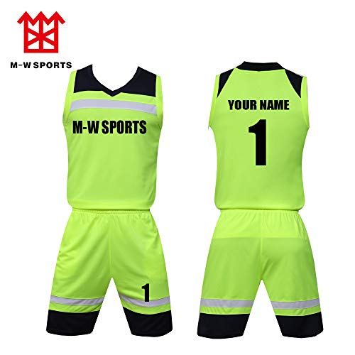 724a4d57755b Custom Men Kid s Basketball Jersey with Name and Number - Make Your Own  Team Uniform (M