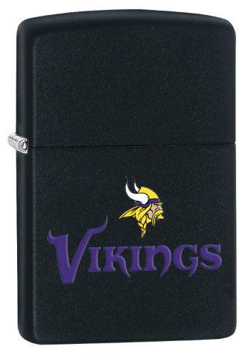 Zippo Lighter - NFL Minnesota Vikings Black Matte