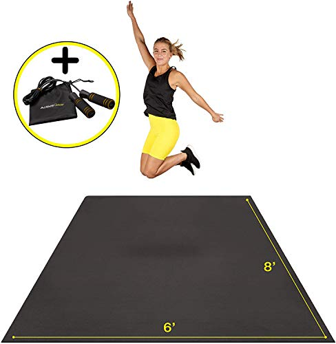 Premium Extra Large Exercise Mat 8' x 6' x 7mm