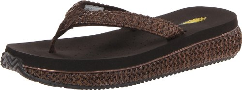(Volatile Women's Palau Wedge Sandal,Brown,8 B US)