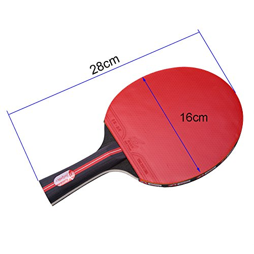Dioche Boliprince Ping Pong Paddles, 2-Player Table Tennis Racket Set with Carrying Bag and 3 Balls for Shake-Hand Grip Players by Dioche (Image #5)