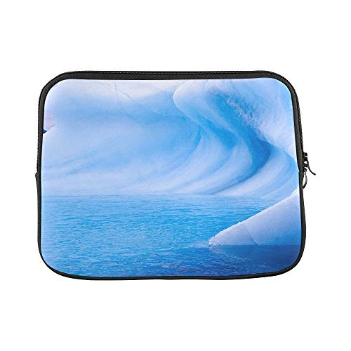 (Design Custom Beautiful View of Icebergs and Penguins in Antarct Sleeve Soft Laptop Case Bag Pouch Skin for MacBook Air 11
