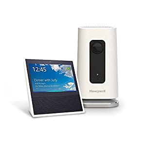 Echo Show - White + Honeywell Lyric C1 Indoor Wi-Fi Security camera