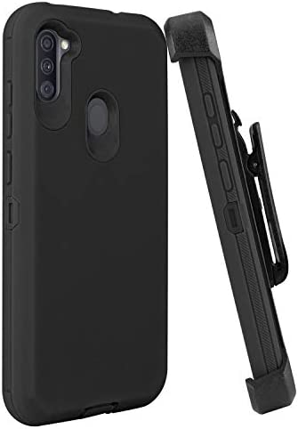 YYSHO Galaxy A11 Case, Galaxy A11 Cover Case, [Simple Fashion] Rugged Shock Absorption Anti Scratch Case Shockproof Full Body Protection with Belt Clip and Kickstand for Samsung Galaxy A11 (Black)