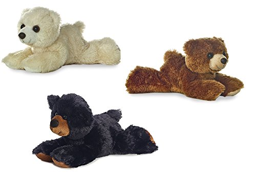 (Aurora Arctic the Polar Bear Sullivan Black Bear Barnsworth Brown Bear Mini Flopsie Bundle)