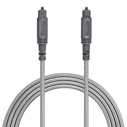 Optical Audio Cable Digital Toslink Cable - [Nylon Braided Jacket