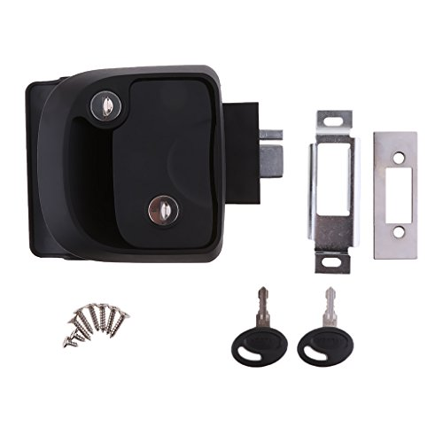 Dovewill Black Flush Mount Lock Latch Handle for RV, Yachts Boats, Trailer Furniture RV Lock Entry Door Luggage Cabinet by Dovewill