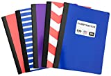 Norcom (Set of 5) Wide Ruled Composition Notebooks [9.75'' x 7.5'' (100 Sheets)] RANDOM COLORS (Wide Ruled)