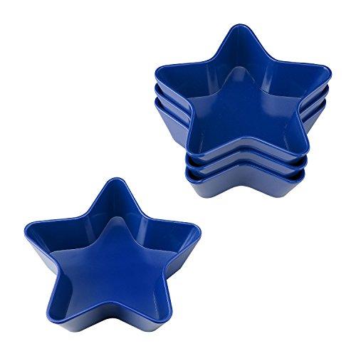 (Gourmet Art 4-Piece Patriotic Star Melamine 5 1/2-inch Bowl, Blue)