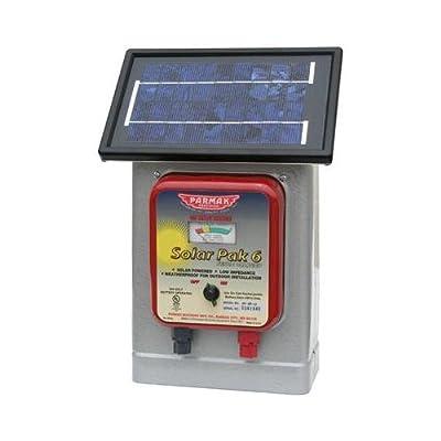 Parker Mc Crory Mfg DF-SP-LI Electric Fence Charger, 25-Mile, Solar-Pak, 6-Volt Battery
