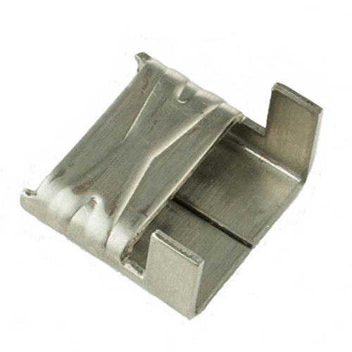 ISO WS154 Type 201 Stainless Steel Wing Seals 1/2'' - 100 per Box