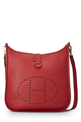 Hermes Rouge Grenat Clemence Evelyne III PM (Pre-Owned)