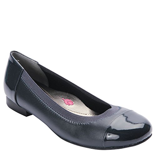 Ros Hommerson Women's Rebecca Flats, Navy Leather, 11.5 W