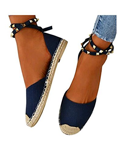 Dovaly Women Sandals Rivets Cross Bandage Open Toe Faux Big Size Fashion Casual Flat Sandals