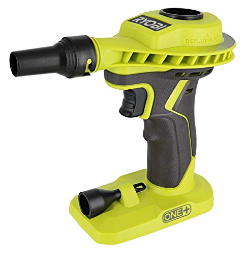 Ryobi P738 18V One+ Lithium Ion 18V One+ High Volume Power Inflator / Deflator for Mattresses and Recreational Inflatables (Renewed)