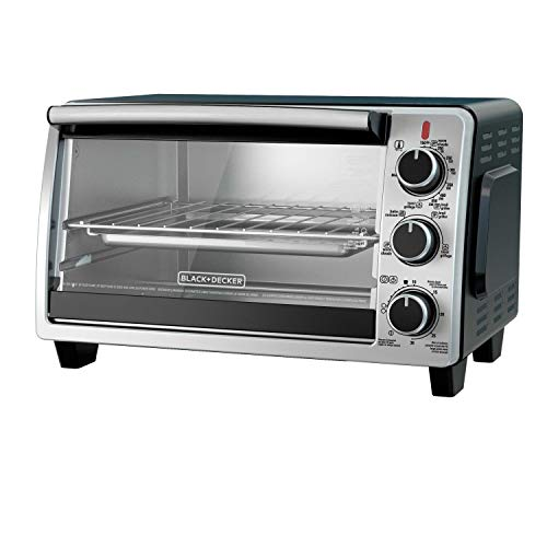 BLACK+DECKER TO1950SBD 6-Slice Convection Countertop Toaster Oven, Includes Bake Pan, Broil Rack & Toasting Rack, Stainless Steel/Black Convection Toaster Oven (Black & Decker Under Counter Toaster Oven)