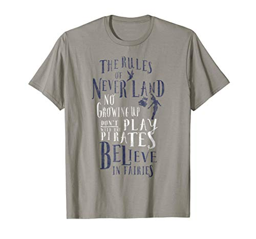 Disney Peter Pan Tinker Bell The Rules Of Never Land T-Shirt