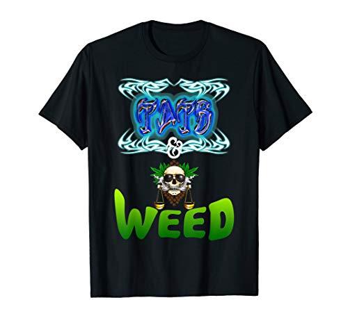 Mens Tats And Weed T Shirt Tattoo And Marijuana Fan Tee
