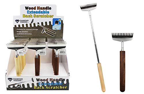 Wood Handle Extendable Back Scratcher, Case of 96