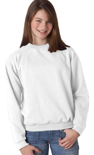 Jerzees 562B Youth Nublend Crew Neck Sweatshirt - White44; Extra Large (Sweatshirt 562b Jerzees)