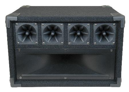 Mid / High Frequency Cabinet with Midrange Horn and Piezo Tweeters