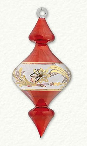 Red and Gold Diamond Shaped Egyptian Glass Christmas Tree Ornament Made in Egypt O Christmas Tree In German