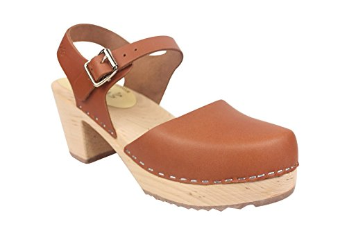 the best store to get store online Lotta From Stockholm Highwood High Heel Clogs Tan Leather bHtUw