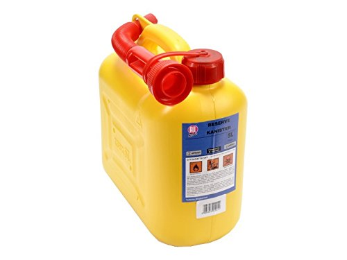 T/ÜV gepr/üft All Ride Kanister 5 Liter in gelb