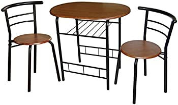 TMS 3 Piece Bistro Set Metal/Espresso