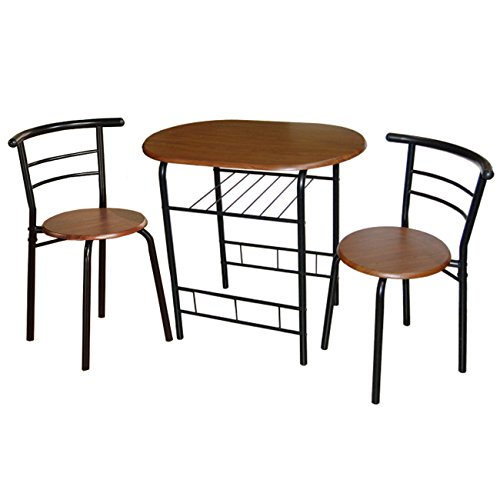 Target Marketing Systems 3-Piece Bistro Dining Set, Espresso